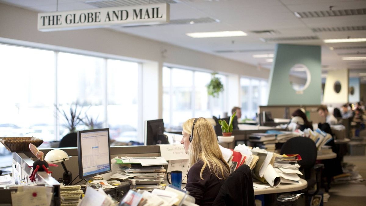 The Globe and Mail newsroom in June, 2016.