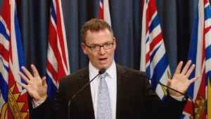 British Columbia Finance Minister Kevin Falcon on Friday August 26, 2011.