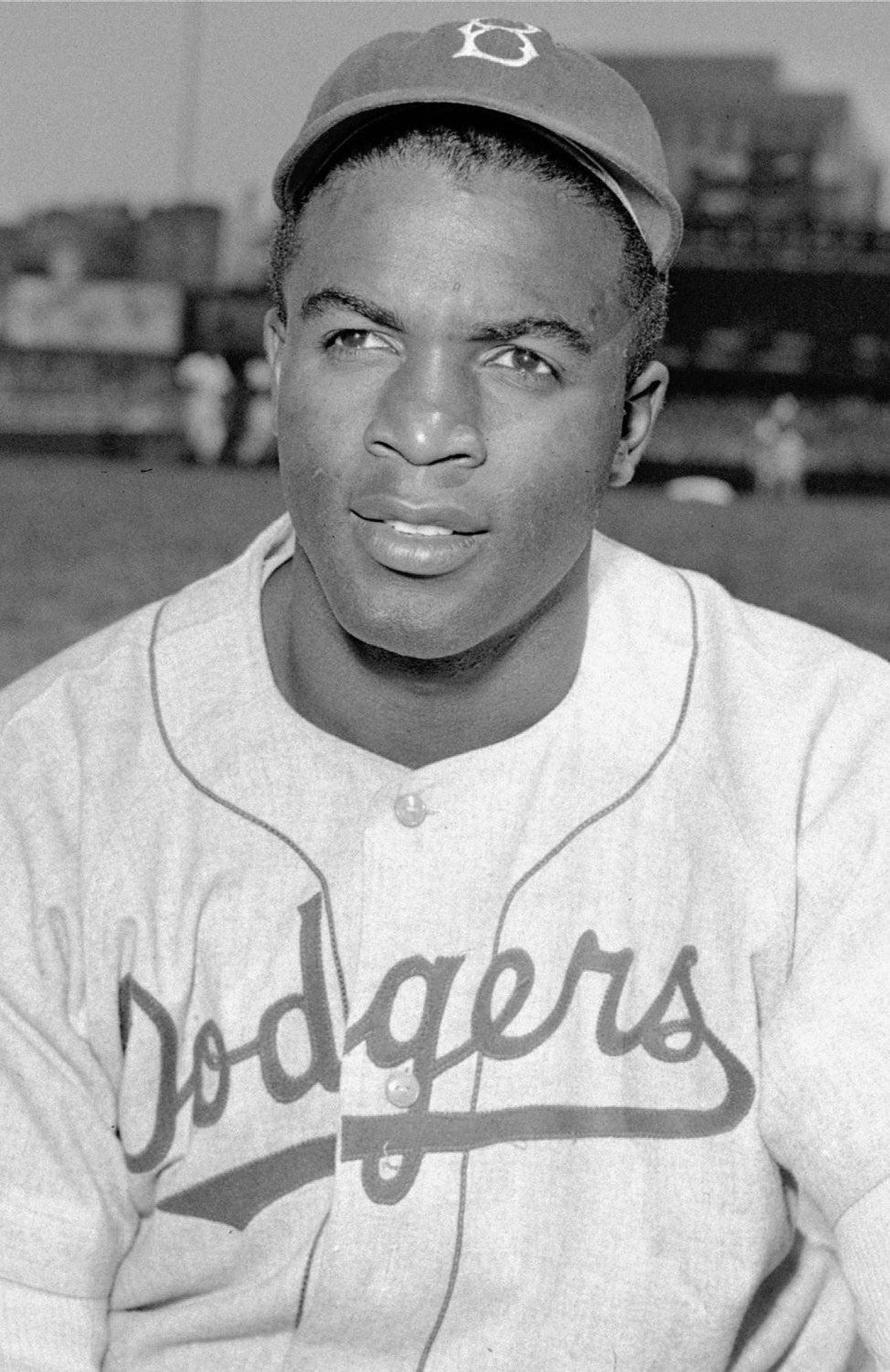 Brooklyn Dodgers' infielder Jackie Robinson is shown in this April 18, 1948 file photo.
