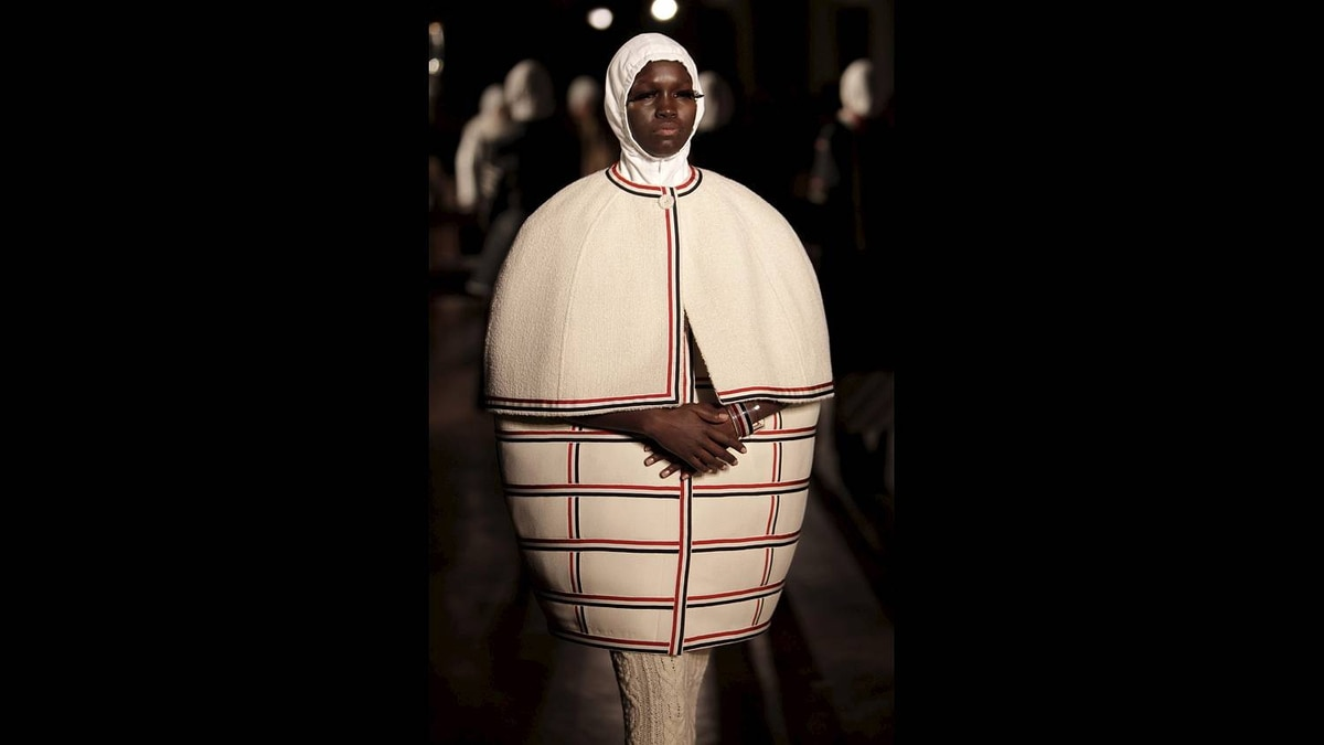 Fall 2011 fashion from Thom Browne is modeled during Fashion Week in New York, Monday, Feb. 14, 2011.