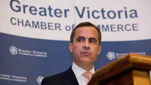 Bank of Canada Governor Mark Carney speaks in Victoria on Monday.