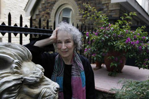 It's 'scary' watching aspects of her fiction come to life, Margaret Atwood says