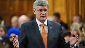 Prime Minister Stephen Harper speaks during Question Period in the House of Common on June 7, 2011.