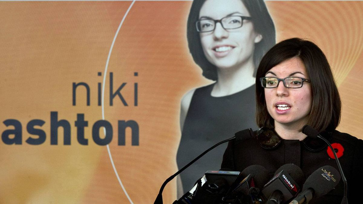 NDP MP Niki Ashton announces her candidacy for the party's leadership on Nov. 7, 2011 in Montreal.