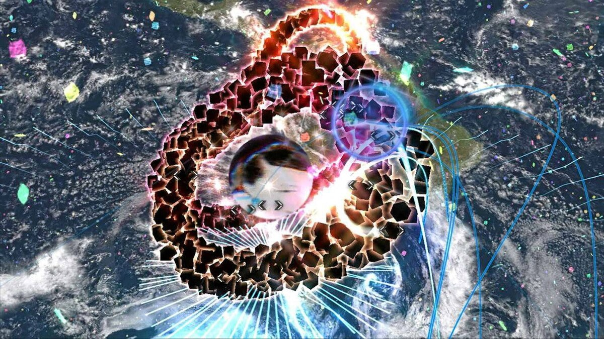 """""""Child of Eden"""" functions much like Mizuguchi's previous work, """"Rez,"""" in that the player character is a static form."""