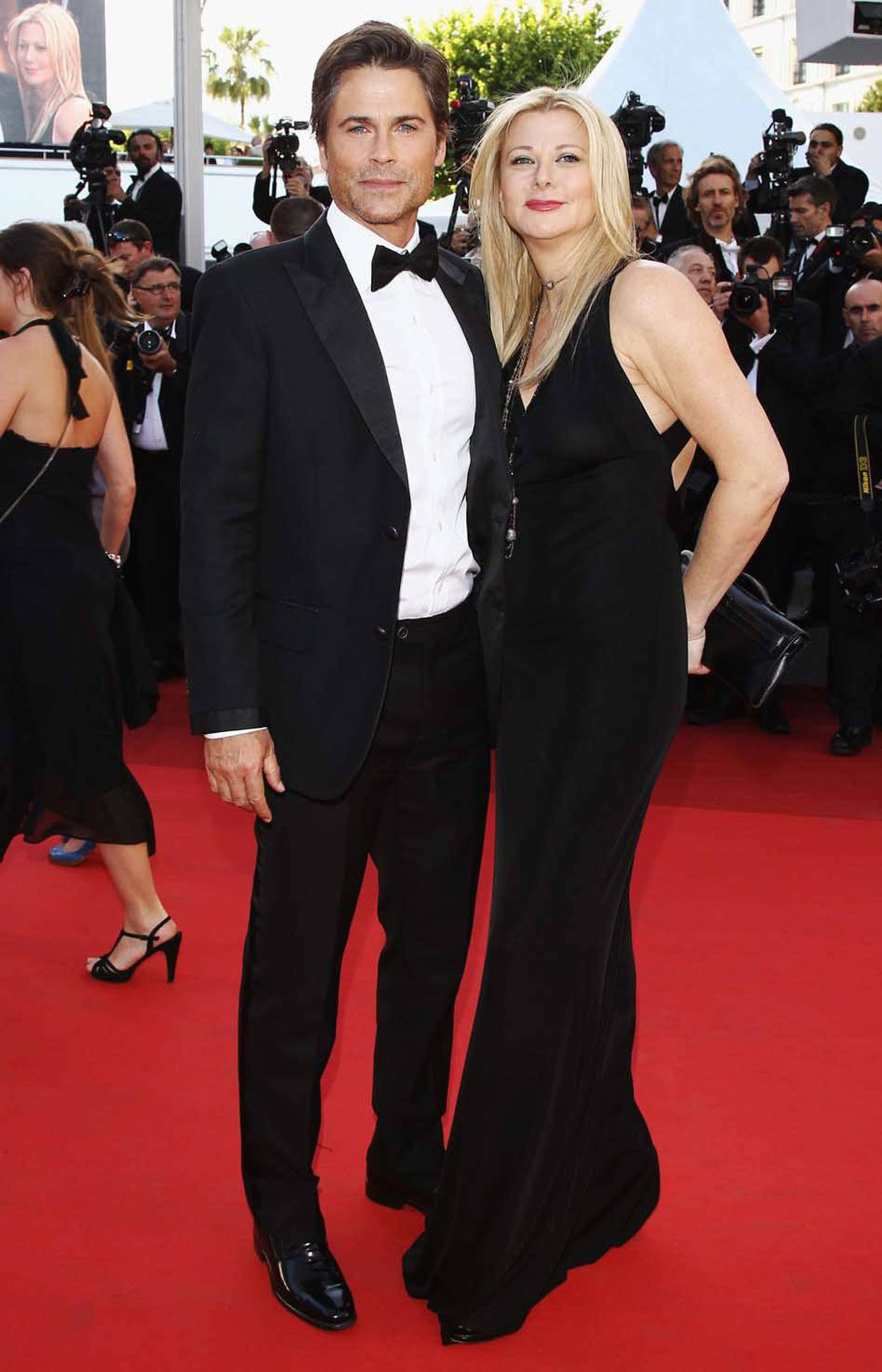 """Rob Lowe and wife Sheryl Berkoff attend the """"The Tree Of Life"""" premiere at the Cannes Film Festival on Monday."""