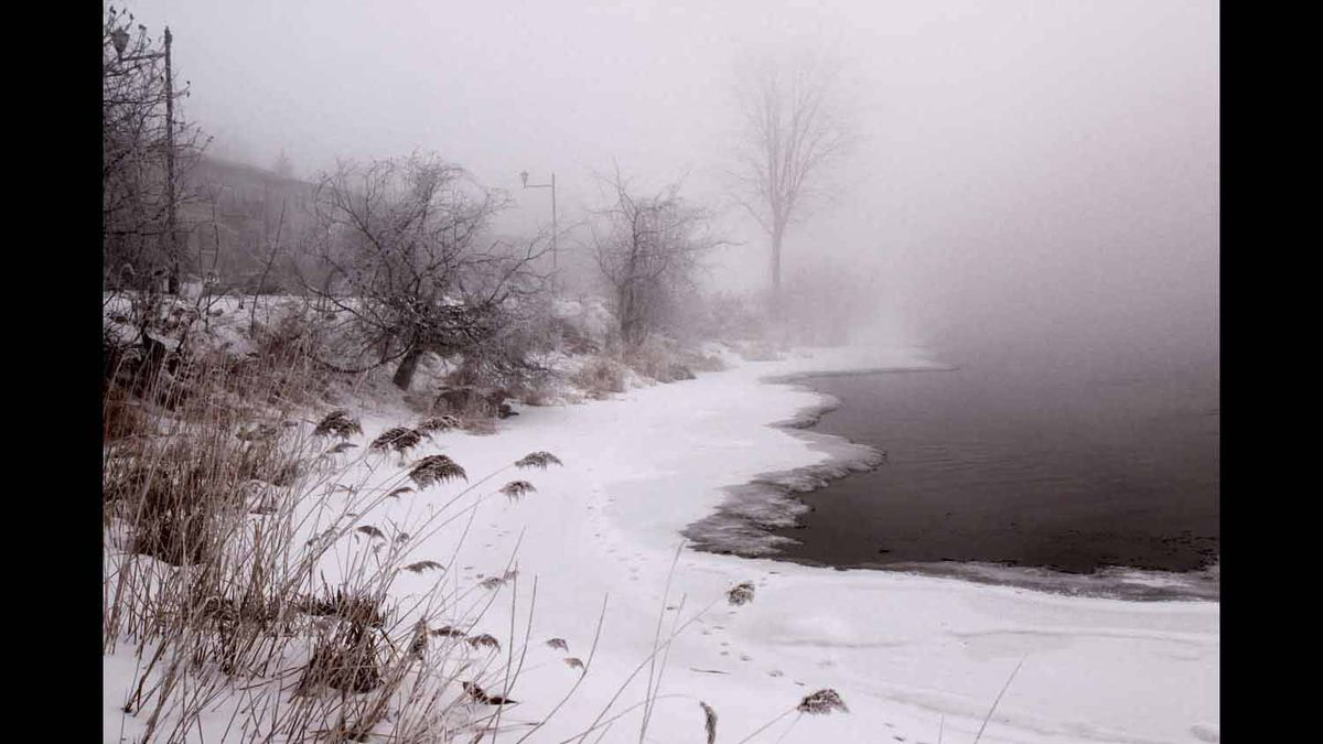 Photo taken in Lasalle, Quebec, in February on a cold misty morning as I was wlking by the St Lawrence river.