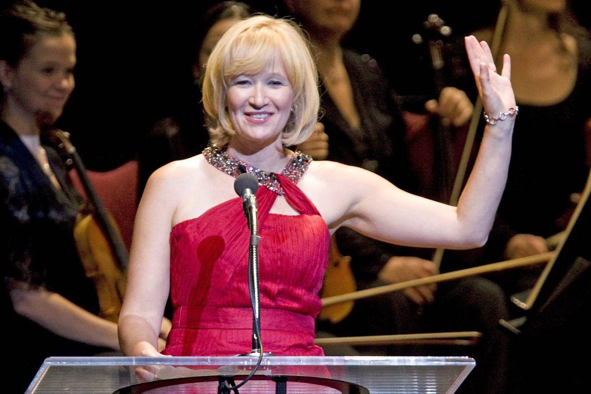 Laureen Harper kicks off the National Arts Centre gala performance in Ottawa on Oct. 3, 2009.