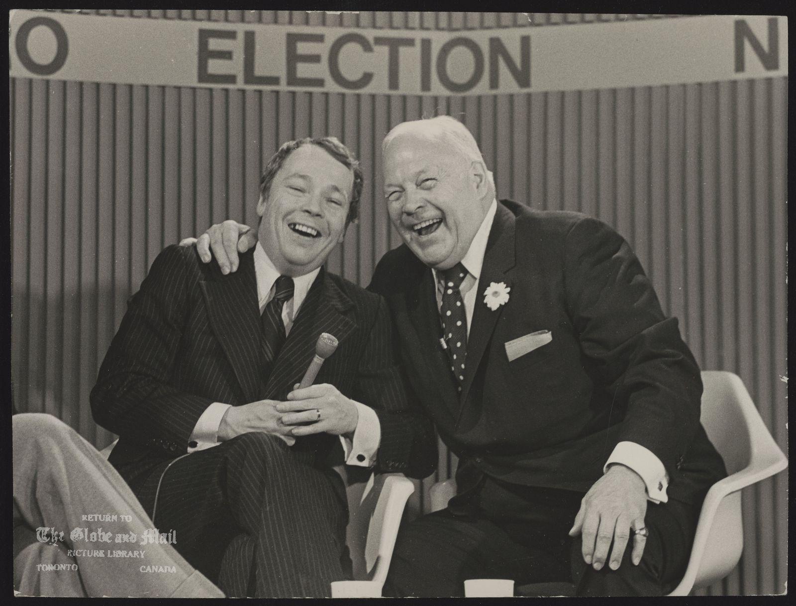 David CROMBIE Toronto. Politician with Allan Lamport