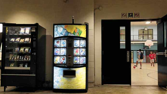 Vending machines in the main hallway of the Trinity Community Recreation Complex in Toronto on Oct. 12, 2011.