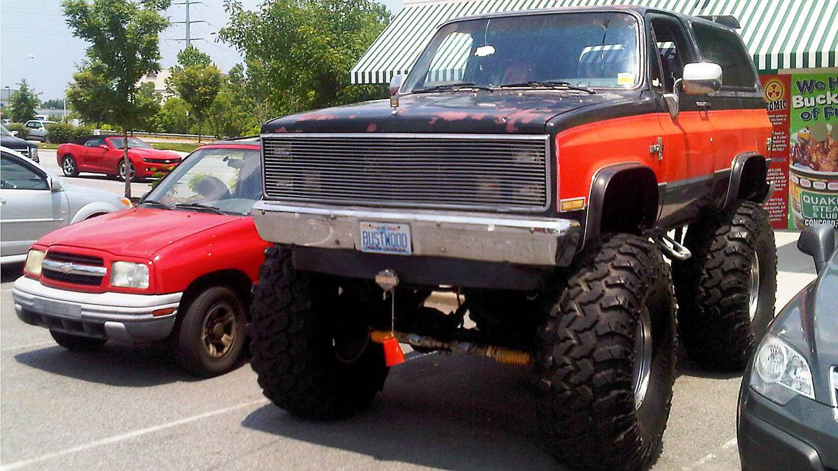 """Wanted: Good woman. Must have own step ladder."" Unless you're looking for a mate in the farthest, deepest hollows of the Ozarks, a truck with 50-inch tires isn't the best bet."