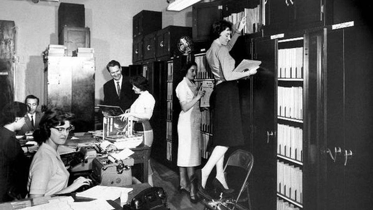 CBC Record Library Toronto, circa 1960.