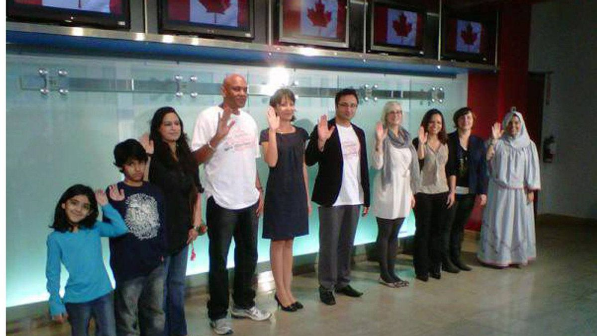Sun News has acknowledged that a citizenship affirmation ceremony it staged in its downtown Toronto studio last October was fraudulent.