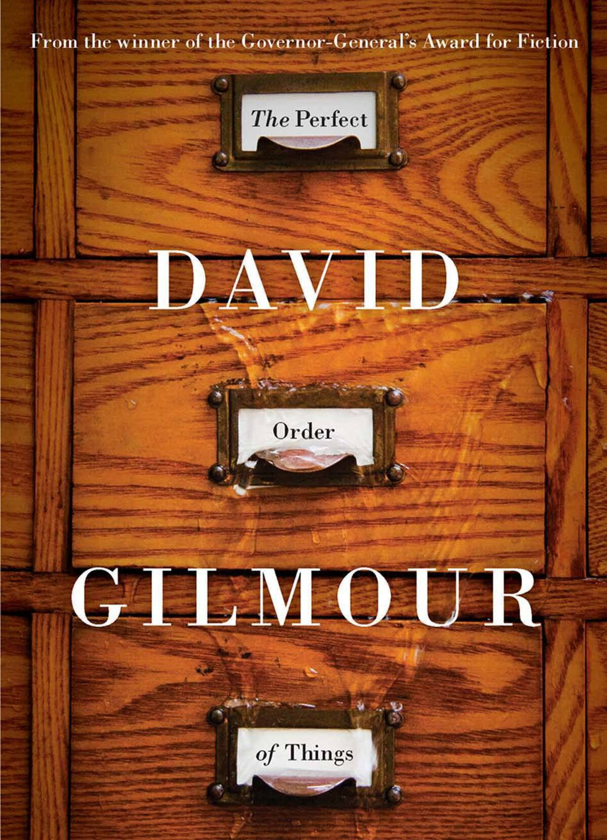 THE PERFECT ORDER OF THINGS By David Gilmour (Thomas Allen) Gilmour's delicious, subversive, self-mocking novel features a narrator who is a composite from all his other books. He revisits the places he has suffered, hoping to balance old scores and relearn early lessons. In the process, he is transformed from a man who likes to watch his own reflection into a man who reflects on his failings and losses. – Aritha van Herk