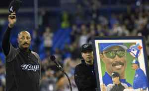 Toronto Blue Jays General Manager Cito Gaston acknowledges the crowd during a ceremony for his last home game as manager before playing against the New York Yankees during AL action in Toronto on Wednesday, September 29, 2010. THE CANADIAN PRESS/Nathan Denette