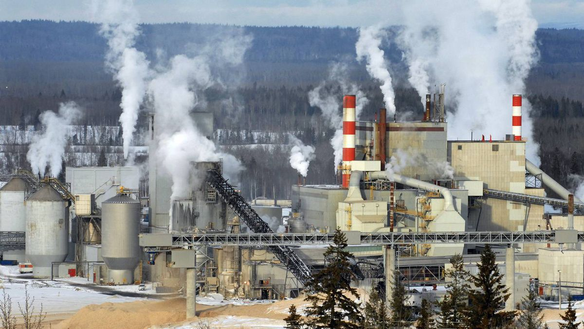A Canfor pulp and paper mill in Prince George, B.C.