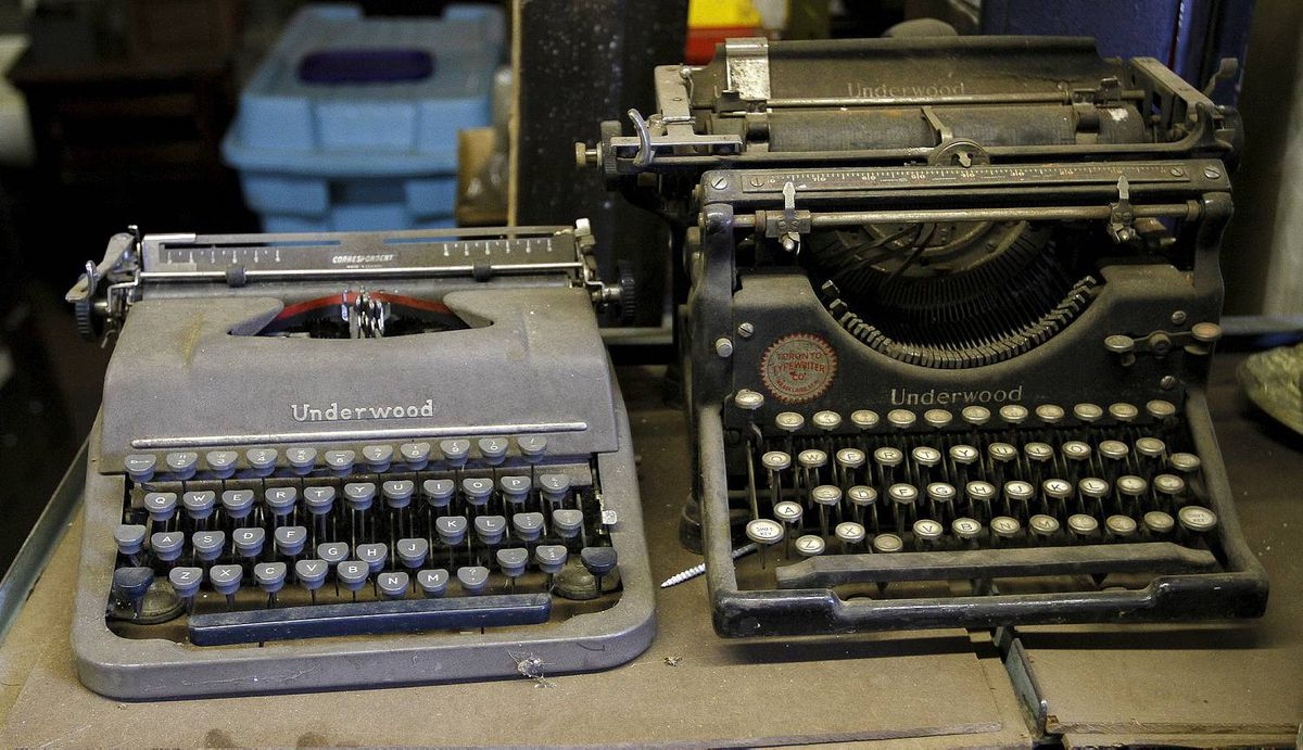 A pair of Underwood typewriters at Addison Inc. on Wabash Ave., Toronto 19, 2012, Photo by: Fernando Morales/The Globe and Mail