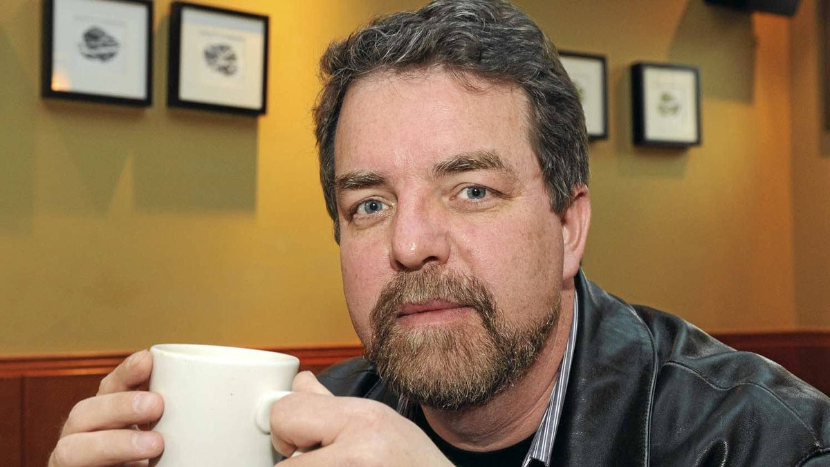 Author Will Ferguson in a Calgary coffee shop.