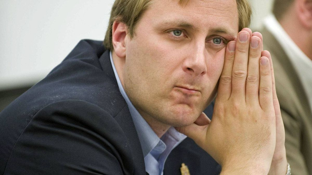 Saskatoon-Humboldt MP Brad Trost looks on at an all-candidate's forum at the University of Saskatchewan on April 21, 2011.