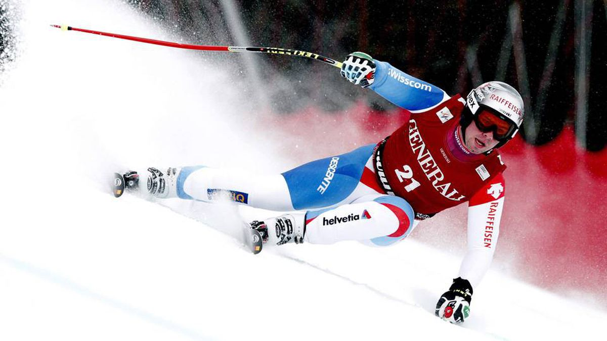Beat Feuz from Switzerland competes in the men's Alpine Skiing World Cup Super G race in the Norwegian ski resort of Kvitfjell March 4, 2012.
