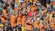 Some 36 women from the Netherlands dressed up as Danish supporters before stripping down to reveal the orange miniskirt designed by Dutch beer brewer Bavaria at Soccer City stadium. Three Dutch women were held and questioned for three hours. The Dutch foreign ministry has asked the South African authorities to explain why the women were forcibly removed from the stadium.