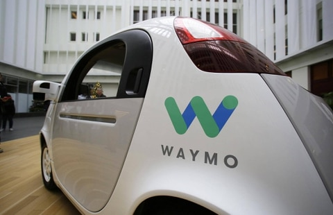 Waymo driverless car is displayed during a Google event in San Francisco Dec. 13 2016. Eric Risberg  AP