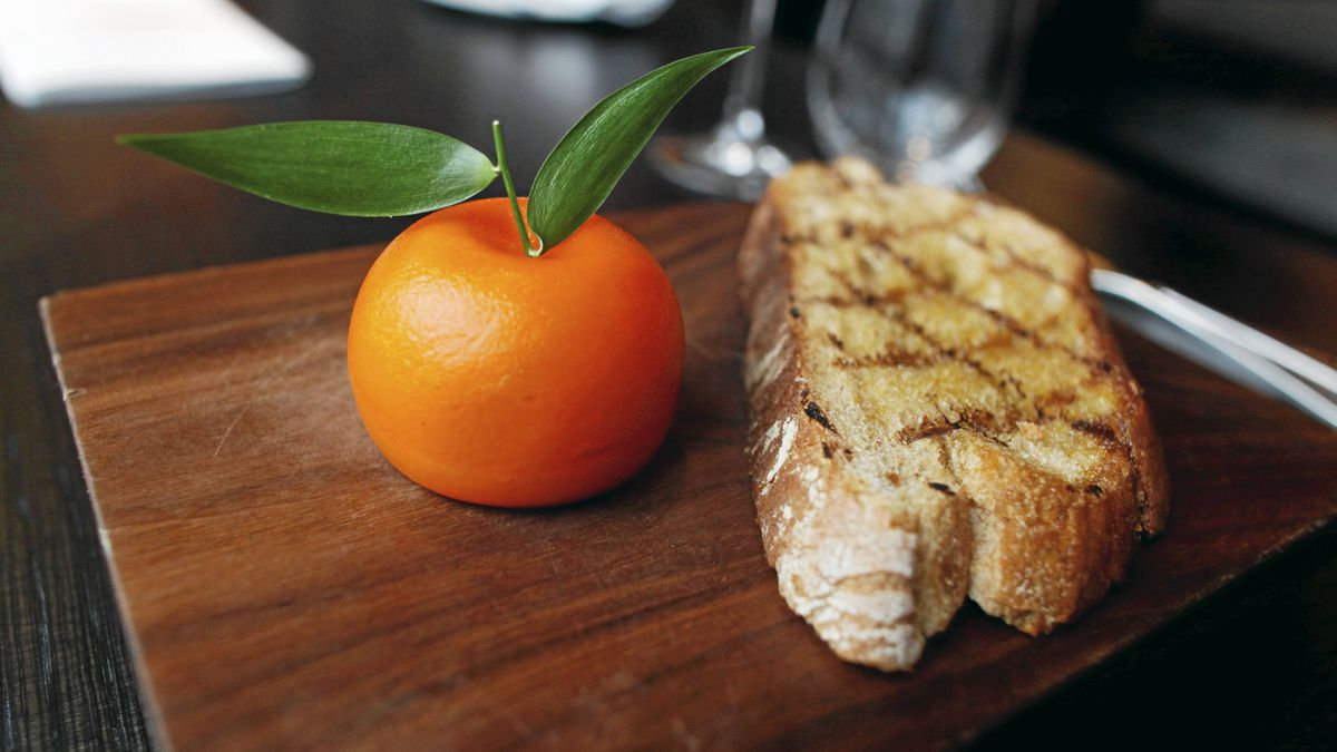 It looks and smells like an orange, but break into Heston Blumenthal's Meat Fruit and discover a creamy chicken liver parfait.