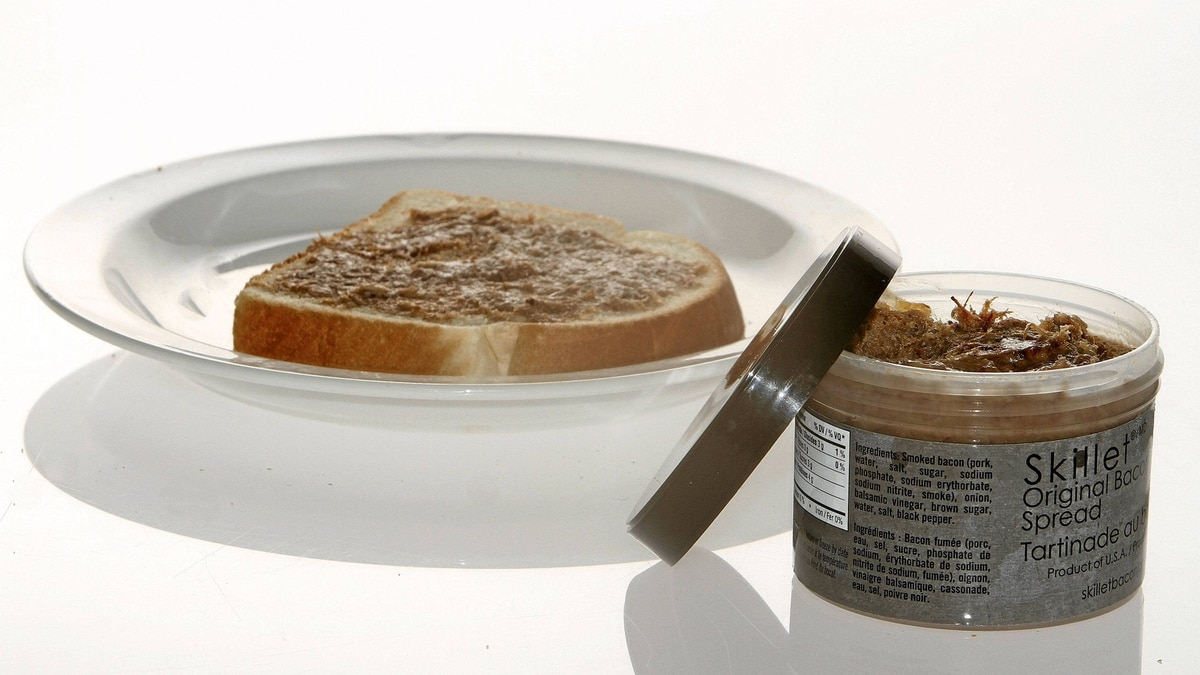 Skillet Original Bacon Spread is a smoky purée of caramelized bacon, balsamic vinegar and onions.