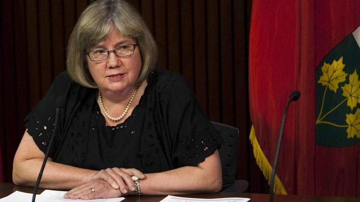 Dr. Arlene King, Ontario's chief medical officer. Nathan Denette/The Canadian Press