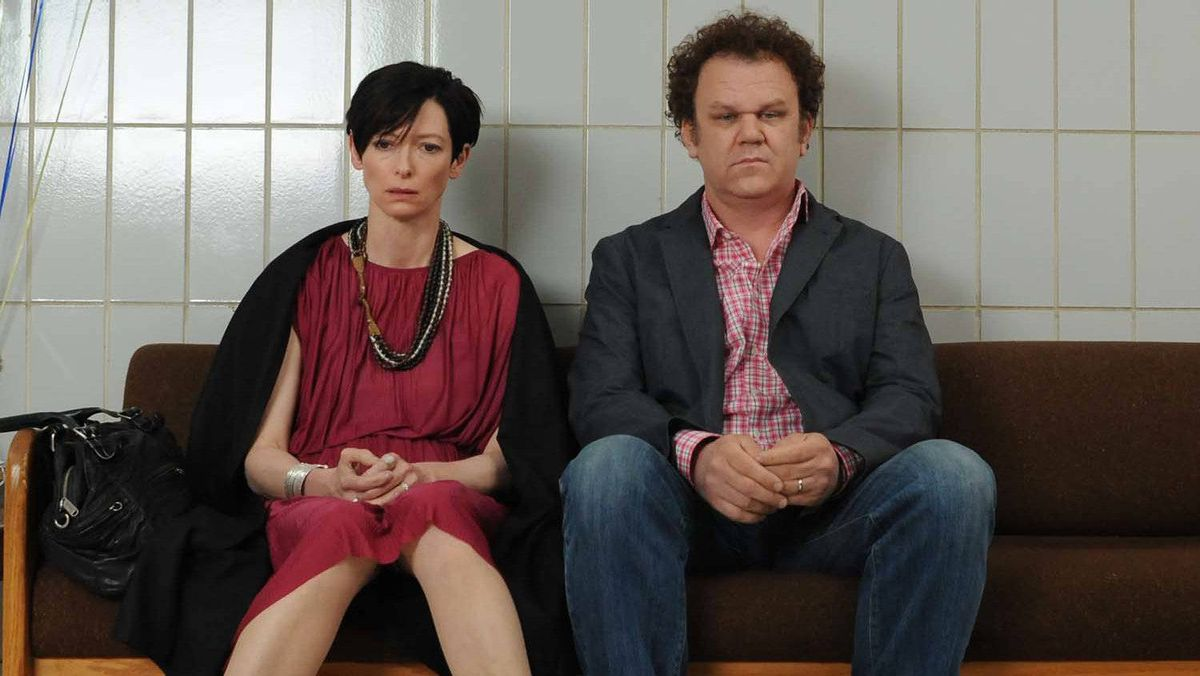 """Tilda Swinton and John C. Reilly in a scene from """"We Need to Talk About Kevin"""""""