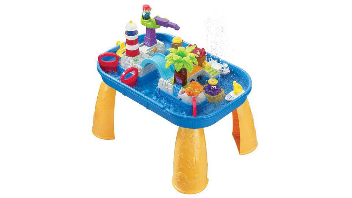 Bring a bit of summer to cooped-up kids with an indoor water play table. The iPlay Sights 'n Sounds Splash Table from International Playthings features palm trees, slides, a water wheel and lots of sound effects. The best part? Super easy cleanup. $69.98, Camelot Kids in Vancouver (1-800-746-2230)