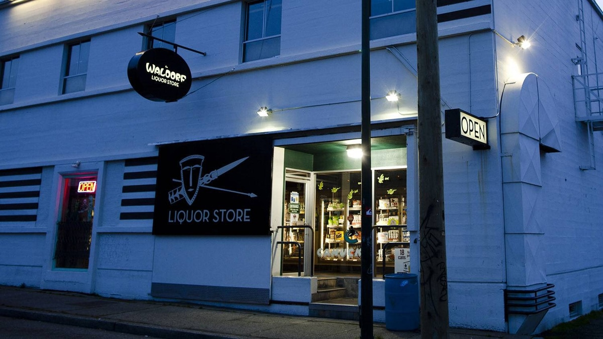 A liquor store adjacent to the Waldorf Hotel seen here in East Vancouver, British Columbia, Thursday, October 27, 2011.