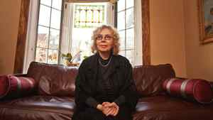 "Eva Stachniak, author of ""The Winter Palace,"" a novel about Catherine the Great, in her Toronto home on Jan. 16, 2012."
