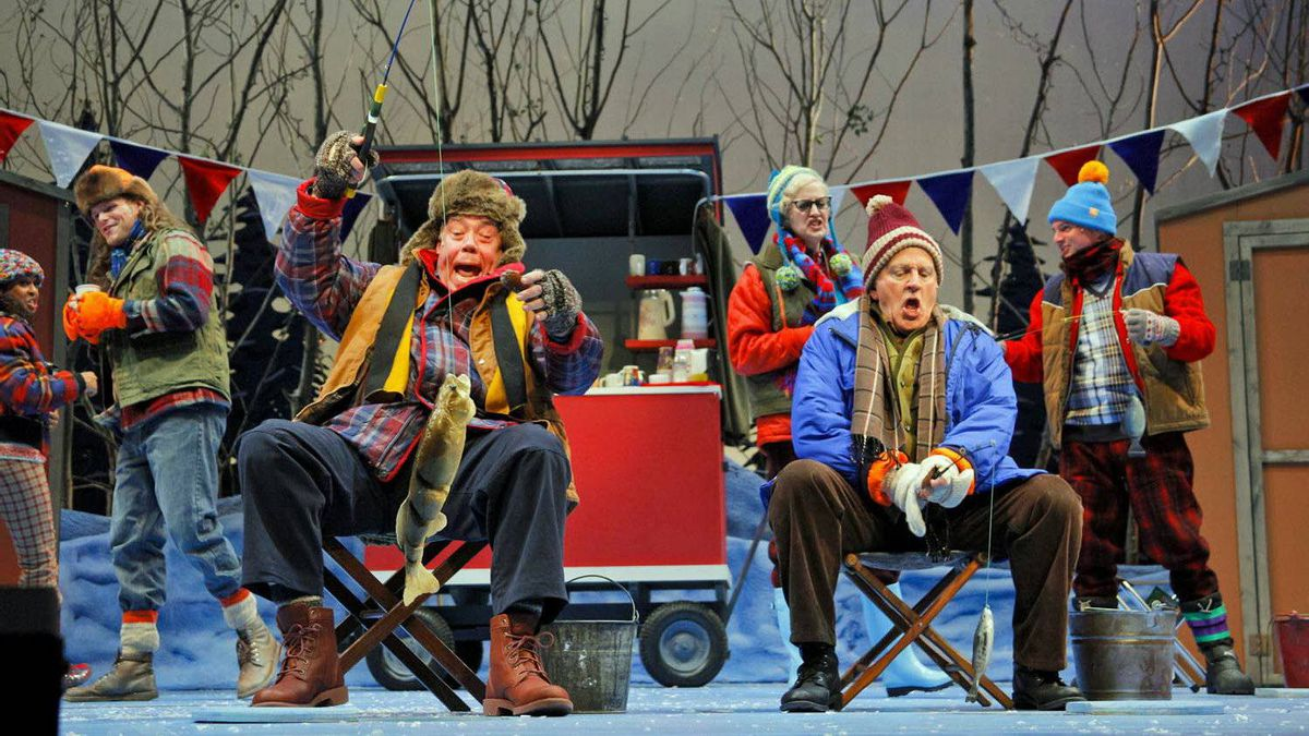 Conrad John Schuck, John Rubinstein and the cast of Grumpy Old Men: The Musical, at the Royal Manitoba Theatre Centre.
