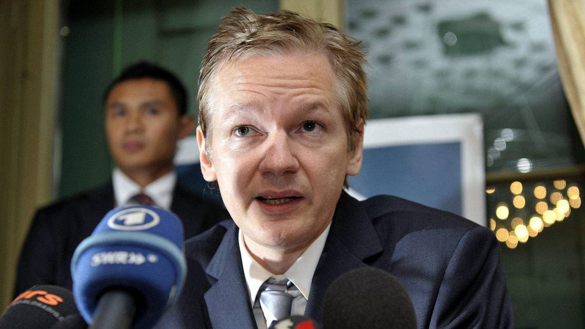 In this Nov. 4, 2010 file photo, Wikileaks founder Julian Assange speaks during a news conference at the Geneva press club, in Geneva, Switzerland. Assange is a former computer hacker who has embarrassed the U.S. government and foreign leaders with his online release of a huge trove of secret American diplomatic cables.