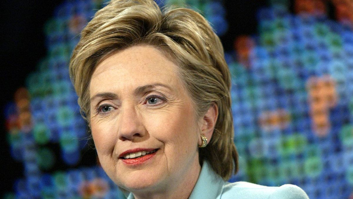 As New York senator, Hillary Clinton kept her look serious with a short, simple cut.