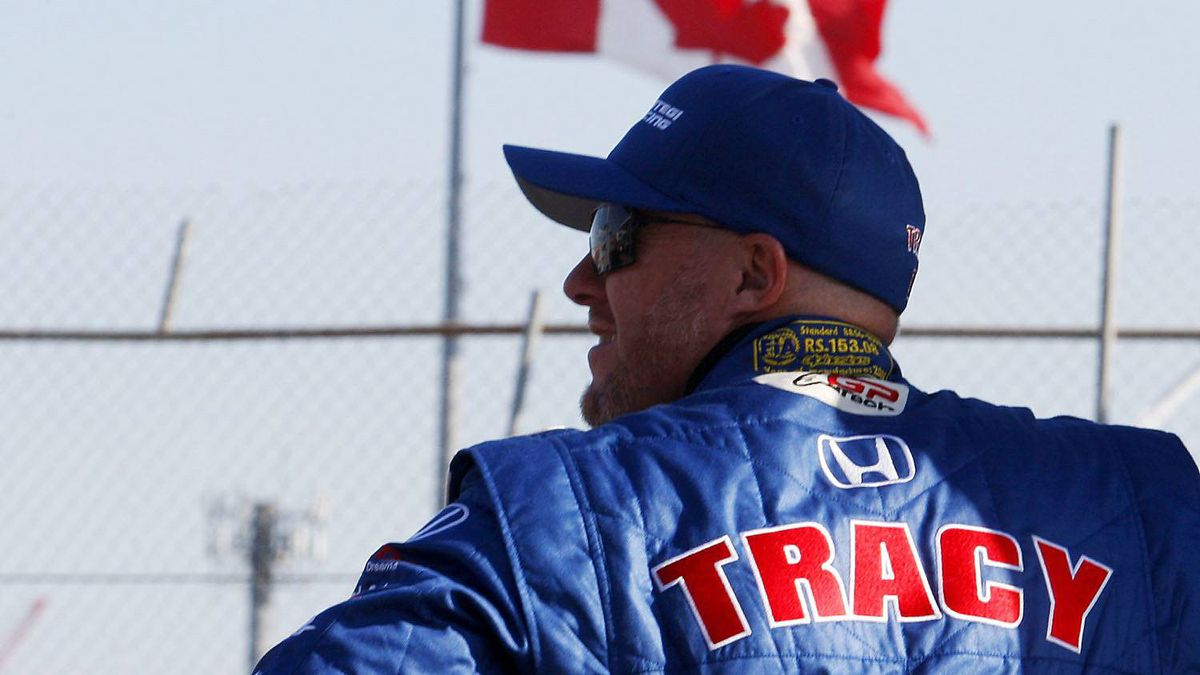 Paul Tracy at practice sessions at the IRL IndyCar Series Honda Indy in Toronto July 17, 2010.