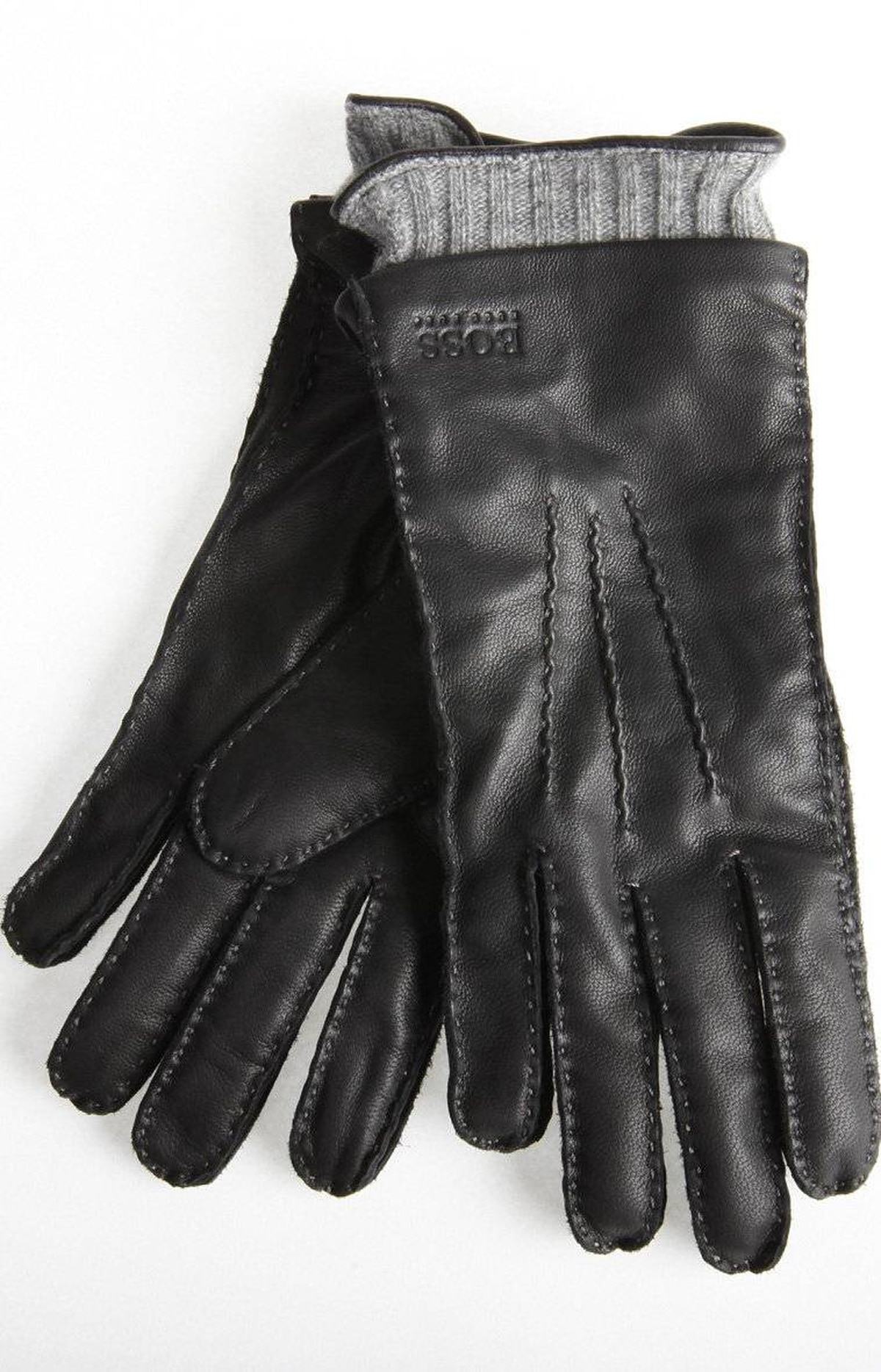 Black Hugo Boss gloves, $135 at Harry Rosen (www.harryrosen.com).