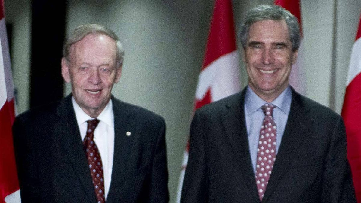 Liberal Leader Michael Ignatieff arrives at a reception with former prime minister Jean Chretien on April 27, 2011 in Toronto.
