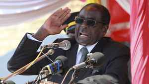 Zimbabwe's President Robert Mugabe addresses supporters in Harare, July, 20 2011.