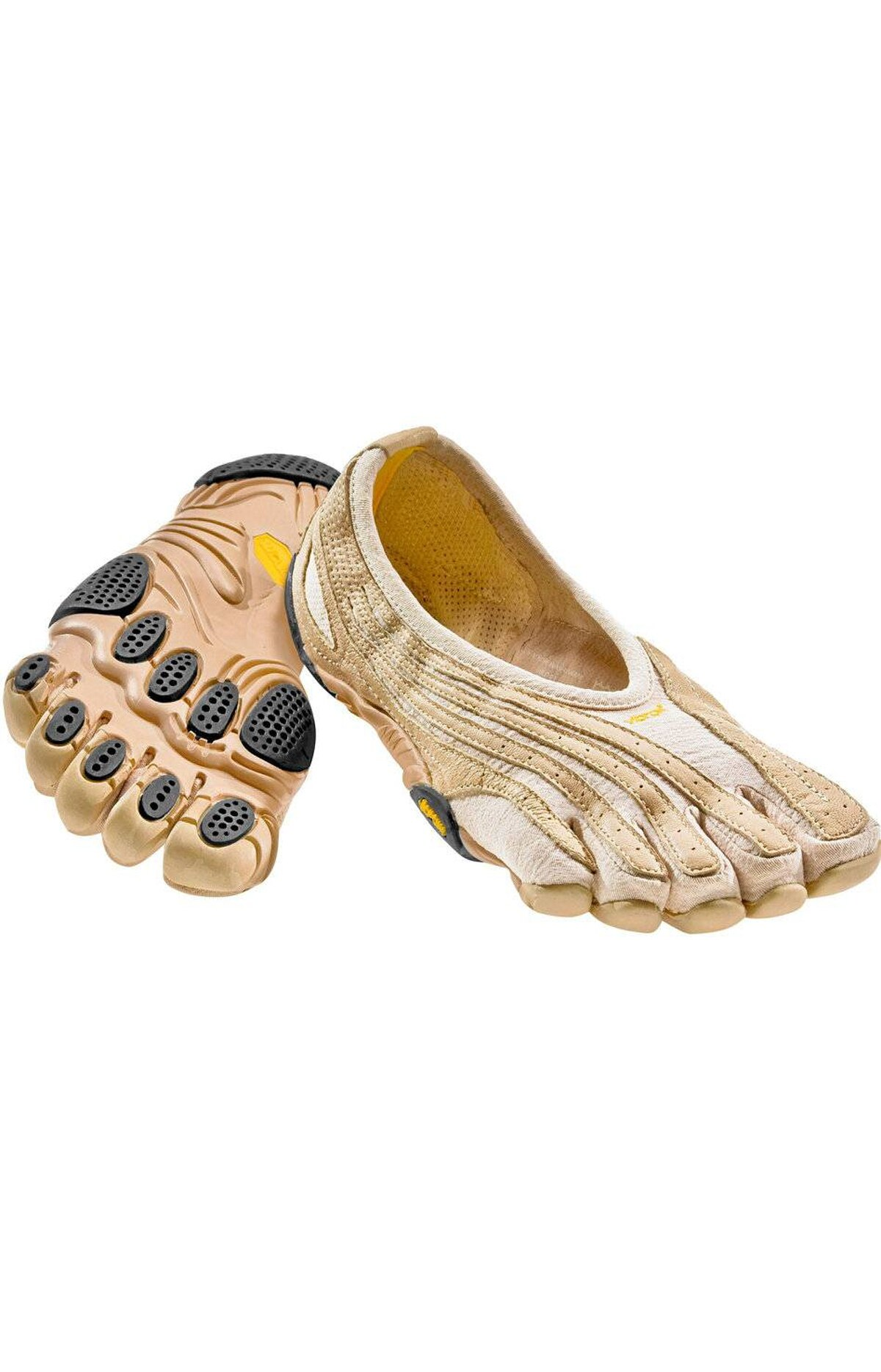 Run, baby, run Run, hike and bike in Vibram FiveFingers Jaya LR. These barefoot cross-trainers are designed to slip on like a foot glove, improving agility and range of motion by padding each toe individually. You'll be surprised how its lightweight soles and strategically placed rubber pads absorb the shock of intense workouts, like jogging on concrete. $100; mec.ca