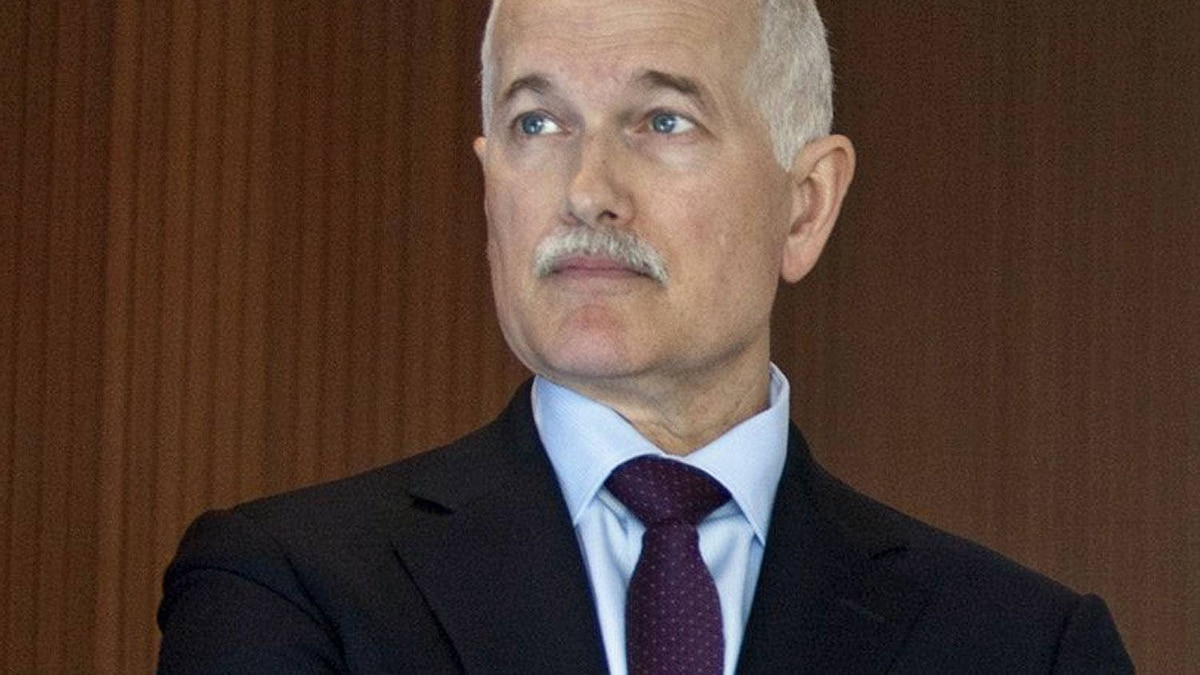 NDP Leader Jack Layton pauses after delivering a speech in Ottawa on Jan. 14, 2011, on Canada's role in Afghanistan.