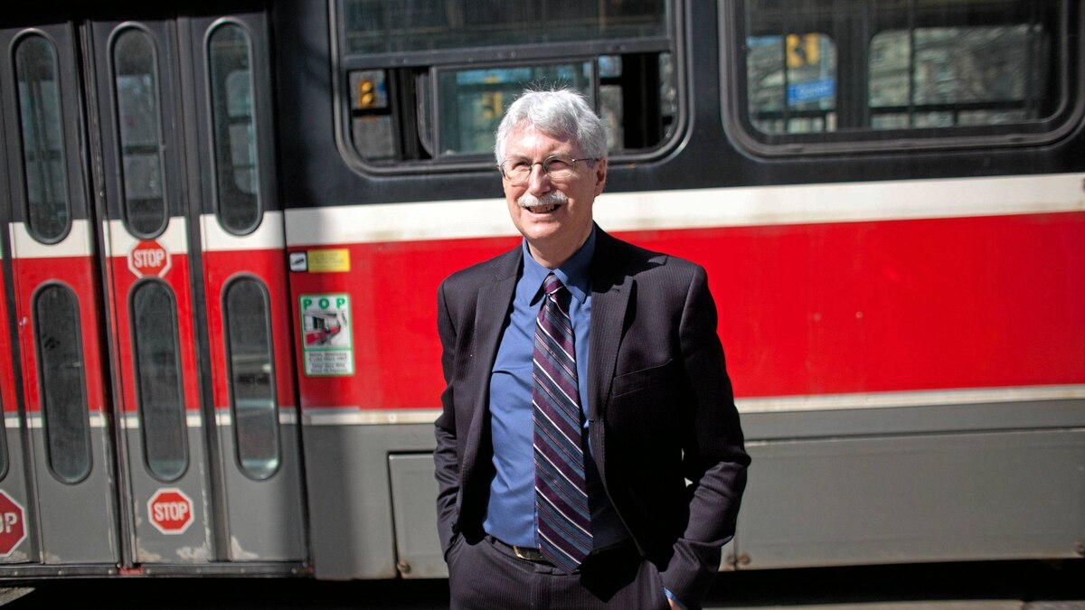 Dr. Eric Miller - head of of the Transit panel recommending an LRT on Sheppard Ave to Toronto City Council, poses for a photo on Queen St W, in Toronto, Ont., Friday, March 16, 2012.
