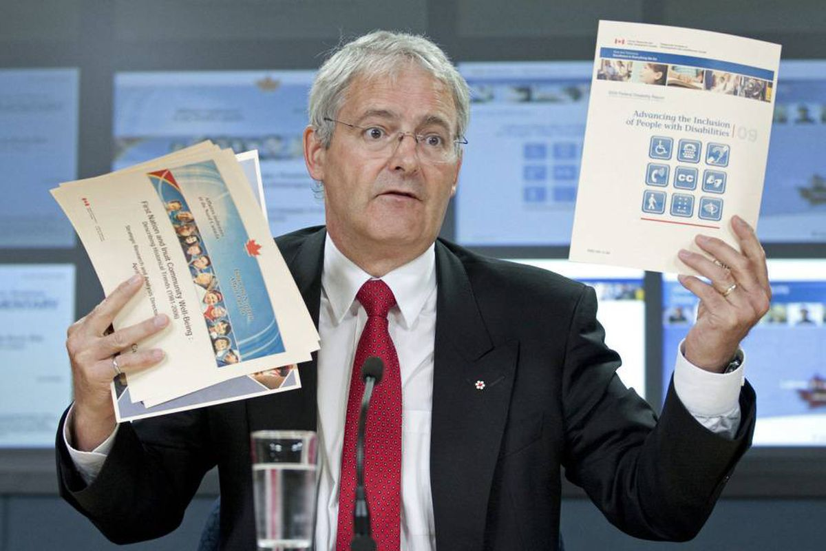 Liberal MP Marc Garneau speaks about Tory changes to the census during a news conference in Ottawa on July 14, 2010.