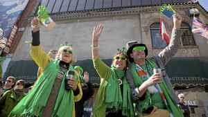 Spectators cheer during the St. Patrick's Day Parade in Toronto on March 11, 2012. Matthew Sherwood for The Globe and Mail