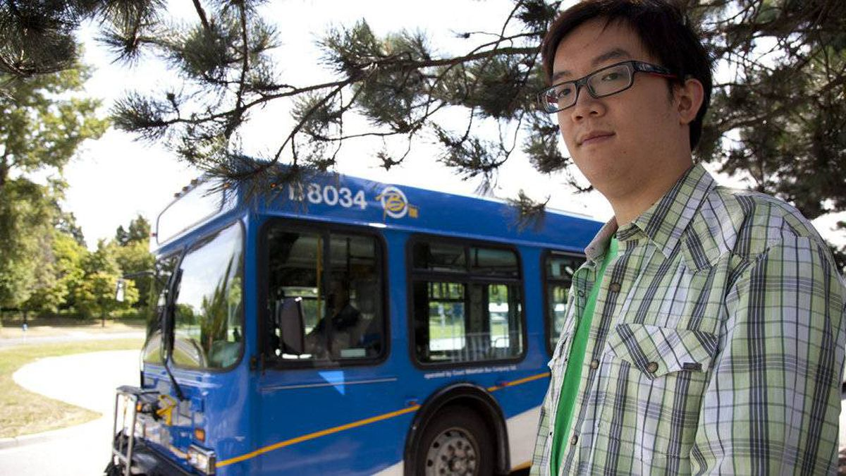 Bowen Tang's commute to the UBC campus from Burnaby takes about one hour.
