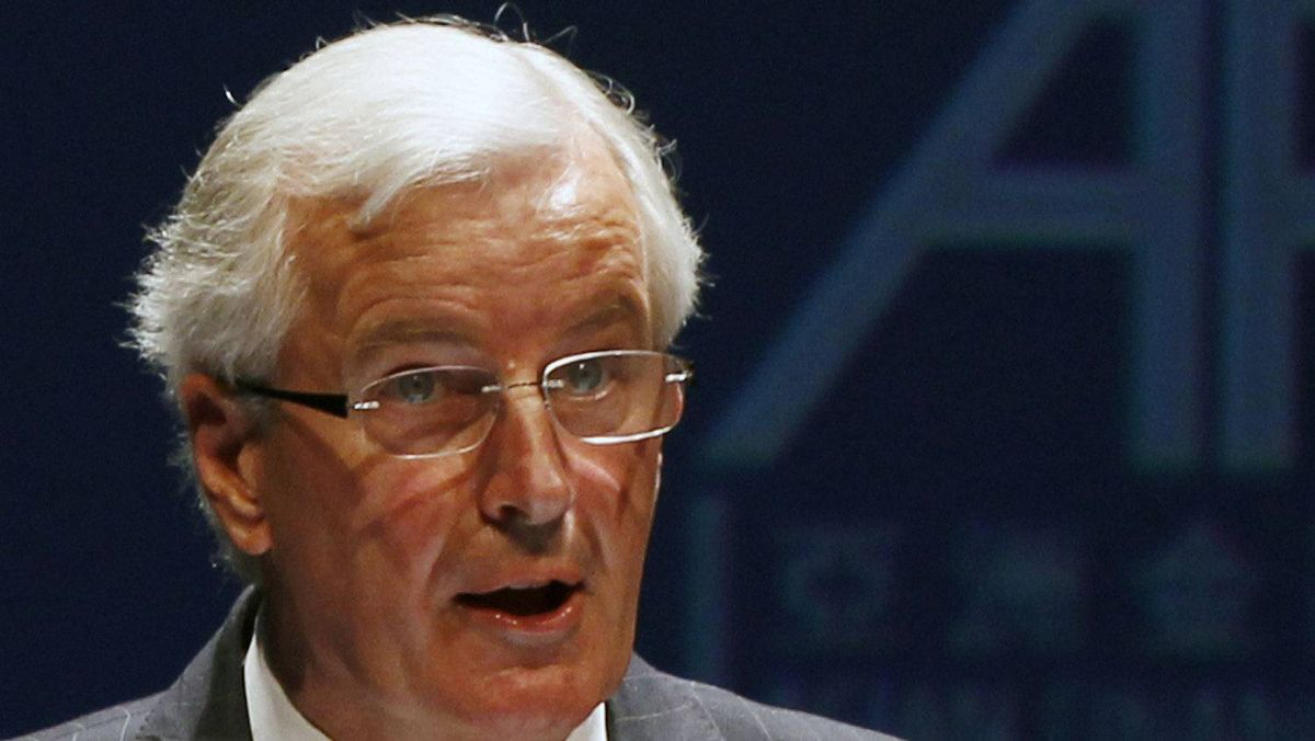 Michel Barnier, European Commissioner for Internal Market and Services, speaks during the Asian Financial Forum in Hong Kong Jan. 16, 2012.