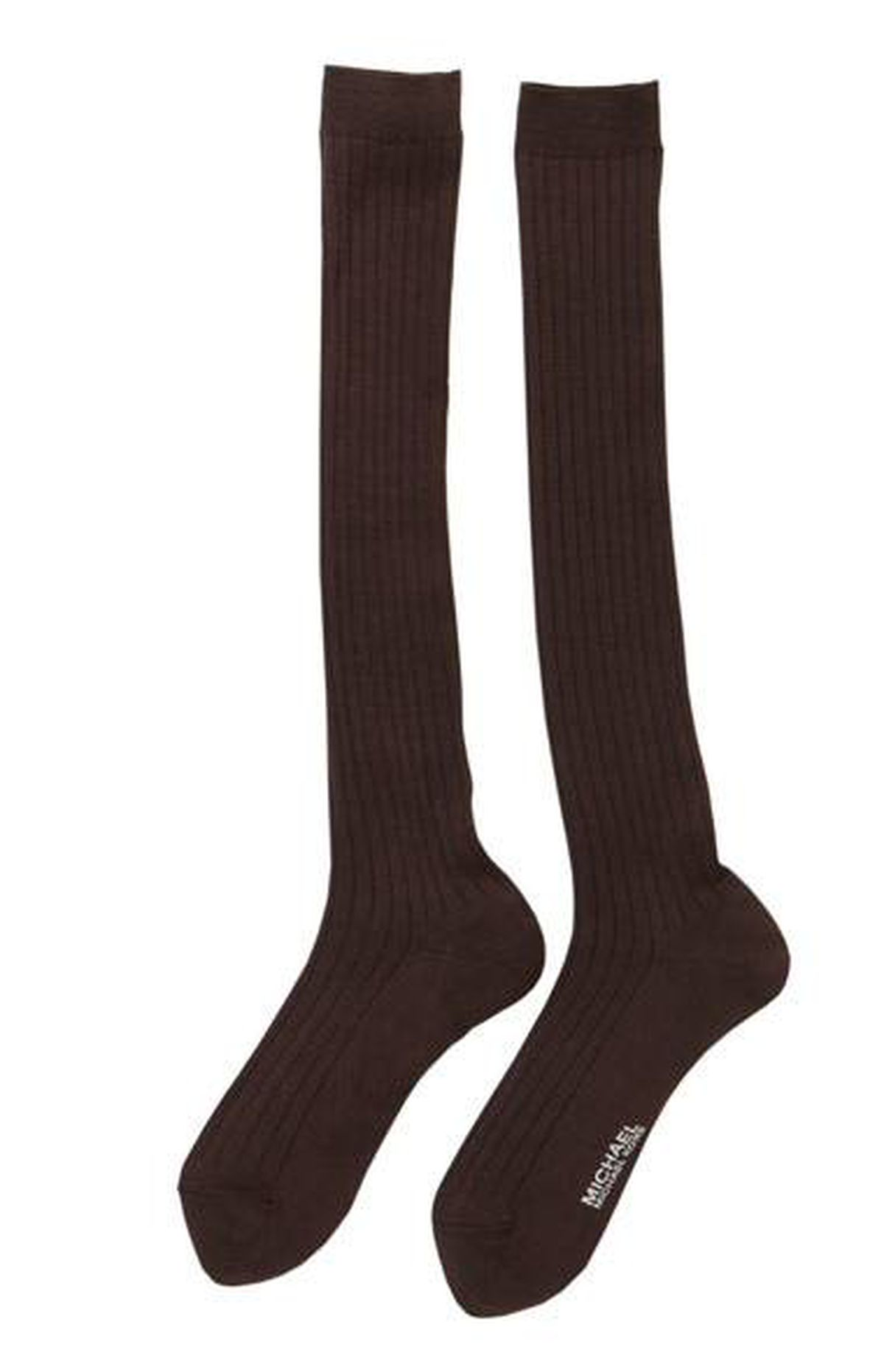 Michael Michael Kors knee socks in Chocolate, $15 at Accessity (www.accessity.com).