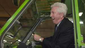 Bloc Quebecois Leader Gilles Duceppe was in Riviere-du-Loup on Monday. He visited a house-building plant and got behind the wheel of a forklift. In Saint-Jean-Port-Joli, Que. Mr. Duceppe announced the party's protection and development plans for the St. Lawrence River. In La Pocatiere Que., he met with Bombardier employees union leader Mario Levesque.