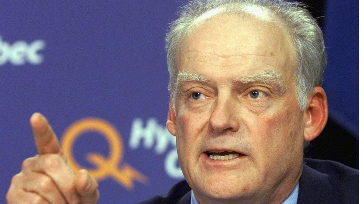 Former Hydro-Quebec chief executive Andre Caille in a 2001 CP photo